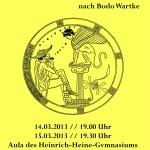 König Ödipus Plakat - technische Umsetzung durch die Schülerfirma HHG-help