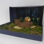 Tier in Diorama