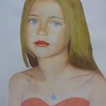 Porträtzeichnung von Mustafa