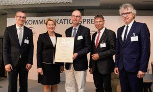 DGP-Vizepräsident Dr. Bernd-Oliver Maier, Bundesfamilienministerin Dr. Franziska Giffey, Preisträger Dr. Markus Günther, DPS-Vorstandsvorsitzender Dr. Thomas Sitte